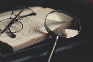 mystery novel magnifying glass